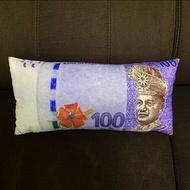 bantal peluk [ 100% Cotton ] Malaysia Money Pillow With Zip# Bantal Ringgit Malaysia+Zip