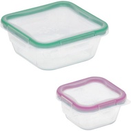 [Shop Malaysia] PYREX® Snapware® 1109350 Total Solution 4Pc 4 Cups/1Cup@950ml/236ml Square Glass Food Storage Set