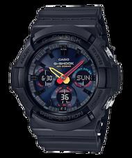 CASIO 卡西歐 GAS-100BMC-1A G-SHOCK霓虹彩色太陽能電力運動電子腕錶 黑 53mm