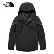 The North Face北面女款黑色防水保暖戶外三合一外套|46ICJK3