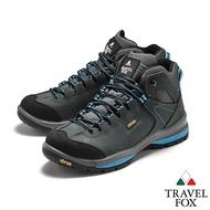 TRAVEL FOX(男)  牛巴戈防震禦寒運動登山鞋 - 山嵐藍