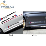 YIN 2pcs Car Stickers M Performance Limited Edition Side Door Reflective Decals