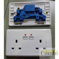 [Shop Malaysia] hager System 9000 13A Double Switched Socket OUtlet