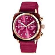 BRISTON CLUBMASTER 經典雙眼計時手錶-莓果紅/40mm