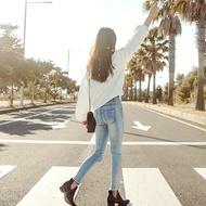 LOVFEE歐美顯瘦窄管牛仔褲