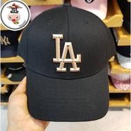 ㊒✡韓正品國代購 韓國 MLB 棒球帽 道奇隊 金屬標 立體 低調 百搭時尚帽 黑色鴨舌帽 遮陽帽13292