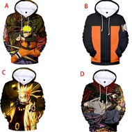 Men's Naruto 3D Print Hoodie Jacket Japanese Anime Sweater Couples Set