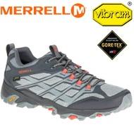 【MERRELL 美國 男款 MOAB FST GORE-TEX 防水戶外多功能健行鞋《淺灰/灰】ML37597/登山鞋/運動鞋