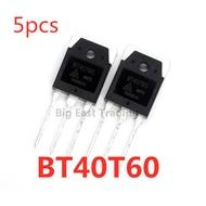 5Pcs BT40T60 TO-3P 40T60 TO3P 40A/600V IGBT ทรานซิสเตอร์,รับประกันคุณภาพ