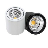 Dimmable Surface Mounted Ceiling Downlight 7W 10W 12W 15W  AC85-265V lamp COB Led Spot light +led driver