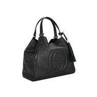 【現貨免運】Gucci/古奇古馳 SOHO系列女包新款中號手提包單肩斜挎包 流蘇包 大容量購物袋 282309
