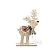 20*12CM木製鹿擺飾(小),聖誕節/聖誕樹/聖誕鹿/聖誕木製品/佈置/裝飾/擺飾/道具/交換禮物,X射線【X020724】