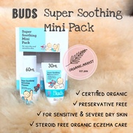 Buds Organics Eczema Mini Pack - Lotion Eksim - Super Soothing Rescue Lotion And Hydrating Cleanser