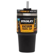 【Stanley 美國】吸管隨手杯 304不鏽鋼杯 冰霸杯 保溫杯 保冰杯 591ml 黑色 (10-02662)