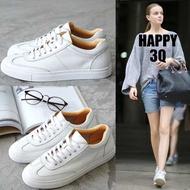 歐美街拍簡約時尚休閒運動真皮小白鞋運動鞋情侶鞋-白35-43【AAA0405】