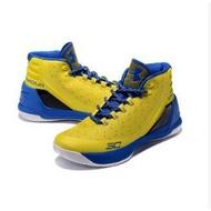 -LUCKY- Under Armour Curry 3 UA 庫里3代 高筒籃球鞋 黃藍 男款