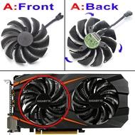 88 มิลลิเมตร t129215su pld09210s12hh วิดีโอการ์ดพัดลมคูลเลอร์สำหรับ Gigabyte GTX 1050 1060 1070 Ti GV-RX570 580 AORUS RX 470 480 R9 380x พัดลม