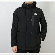 The North Face北面男款黑色防風防水衝鋒衣|3V3O