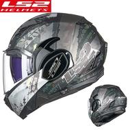 Original LS2 FF900 Valiant II 180Degrees Flip Up Modular KPA Shell Motorcycle Helmet With Anti-fog P