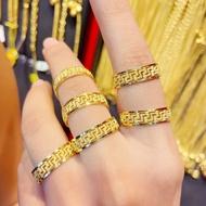【ลดราคาพิเศษ】 New 2021 แหวนครึ่งสลึง ทองแท้เยาวราช