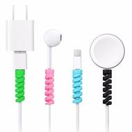 จัดส่งฟรีป้องกันสายซิลิโคนBobbin WinderสายไฟสำหรับApple Iphone USBสายเคเบิล