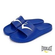 【EVERLAST】一體成型運動拖鞋-藍色