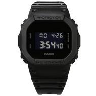 G-SHOCK CASIO/DW-5600BB-1/卡西歐 電子液晶碼錶計時防水運動 橡膠手錶 黑色 44mm 廠商直送