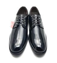 BAOJI รองเท้าคัชชูหนังแก้ว แบบผูกเชือก รุ่น  BJ3467 สีดำ ไซส์ 39-45