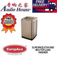 EUROPACE ETW-7800 8 KG TOP LOAD WASHER *** 1 YEAR EUROPACE WARRANTY *** FREE DELIVERY !!