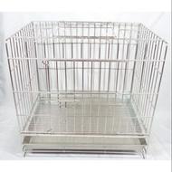 二手 二尺 白鐵籠不銹鋼/不鏽鋼304級雙門活動白鐵固定式狗籠/貓籠/兔籠/寵物籠/貓用品