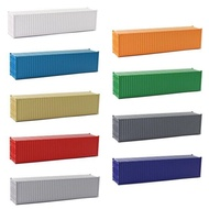 9pcs HO Scale 1:87 40ft Blank Shipping Container Model Trains Cargo Box No Print Pure Color C8740