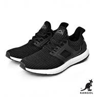 【KANGOL】編織彈性全能輕量運動鞋-男-黑