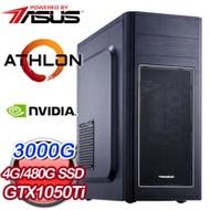 華碩系列【天堂11號】AMD 3000G雙核 GTX1050Ti 影音電腦(4G/480G SSD)