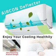 Aircon Deflector Extendable Angle Adjustable No More Direct Blowing Enjoy Cooling Healthy