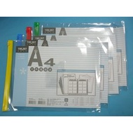 A4直式透明文件透明袋/信億文件袋拉鏈袋塑膠拉鍊夾鏈文件夾MIT製/{定30}一大包12個入