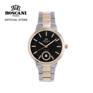 Roscani Emma 424 (Sapphire Crystal) Rose Gold Black Bracelet Women Watch