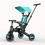 兒童三輪車 uonibaby兒童三輪車溜娃神器手推車遛娃可折疊輕便嬰兒寶寶腳踏車【星空物語】ETSLC6