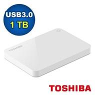 Toshiba 2.5吋 V9 1TB USB3.0 外接式硬碟 白