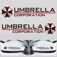 1 Pair auto Rearview Mirror Decals Resident Evil Umbrella Mirror car Stickers for car Motorcycle Truck