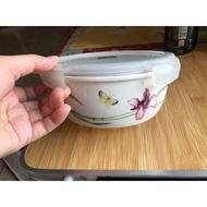 [二手]樂扣陶瓷圓型保鮮盒silby系列蘭花