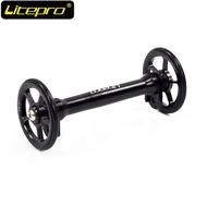 Original Litepro bicycle wheel set extension beam telescopic wheel easy 412 folding bike Used in Brompton 3sixty