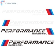COZYR 2pcs Car Stickers M Performance Limited Edition Side Door Reflective Decals