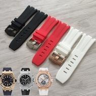 適用AP愛彼橡膠手錶帶皇家橡樹離岸型26400防水防汗矽膠針扣錶帶