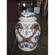 桃園國際二手貨中心-----早期 中型 中華陶藝 造型陶瓷 花瓶 陶罐 瓷罐