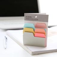 6 สี 90 แผ่นเขียนได้ Index กระดาษโน๊ตกระดาษแปะบันทึกความจำ Pad เครื่องเขียนอุปกรณ์สำนักงานอุปกรณ์การเรียน