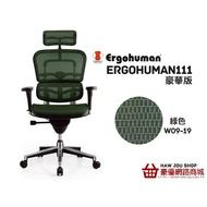 (台中豪優) 萬元銷售冠軍 Ergohuman 111人體工學椅