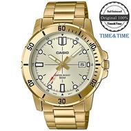 Time&Time CASIO Standard นาฬิกาข้อมือผู้ชาย สีทอง สายสแตนเลส รุ่น MTP-VD01G-9EVUDF (CMG)