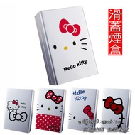 hello kitty煙盒 銀色滑蓋金屬創意 KT貓可愛煙盒可高級超波定制照片煙盒LG