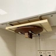 304不銹鋼免打孔壁掛鍋蓋架砧板用品收納架菜板架櫥櫃下案板掛架『xxs9543』