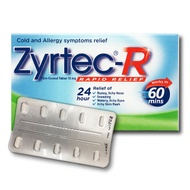 Zyrtec-R - Relief of Running Nose, Itchy Eyes and Skin Rash in 60 minutes (10 Tablets)
